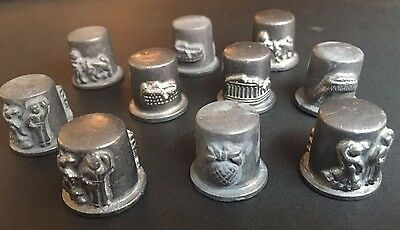 Vintage Pewter Thimbles RARE COLLECTION of 10