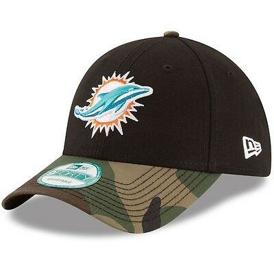 Miami Dolphins New Era 9Forty The League Adjustable Cap - Black/Camo