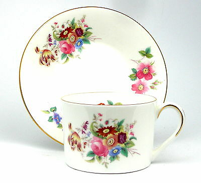 Coalport JUNETIME Tea Cup and Saucer, Straight Sided