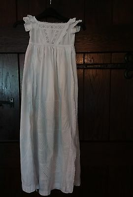 Original Victorian embroidered christening gown