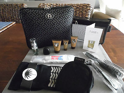 SAUDIA First Class Gent's AIGNER Ipad Amenity Kit Trousse Neceser Kulturbeutel