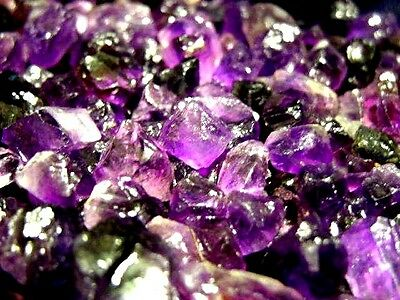 Amethyst gem facet rough Zambia 400 carat lots 12 to 35 pieces 6-18 MM