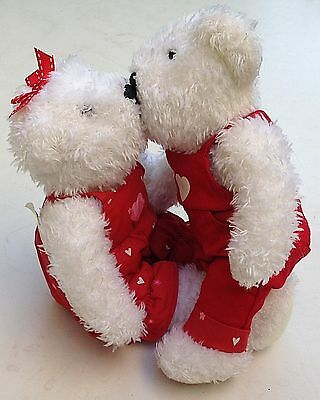 Hallmark Blushing Bears Red Hearts Outfits 9 Inches NWT