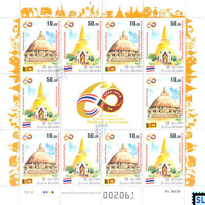 Sri Lanka Stamps 2015, Thailand DPL, Buddha, Buddhism, Mini-sheet