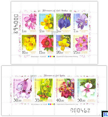 Sri Lanka Stamps 2016, Flowers, Orchids, Definitive, MSs