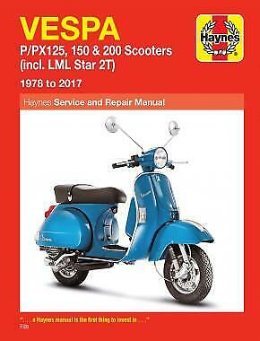 Vespa P125 P150 P200 PX125 PX150 PX200 LML Star 1978-12 Haynes Manual 0707 NEW