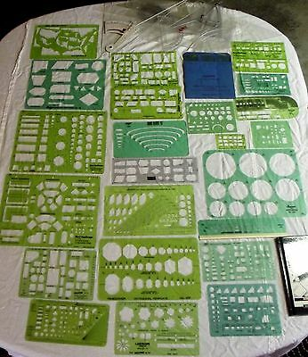 LOT 39 + DRAFTING TEMPLATES STENCILS ARCHITECTURAL HOME DESIGN - Multiple Brands