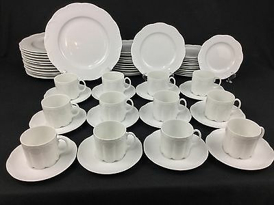 Rosenthal Classic Rose Monbijou All White 60-Piece Set for TWELVE (12)