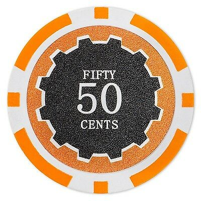Brybelly Eclipse Poker Chips Heavyweight 14-gram Clay Composite - Pack of 50