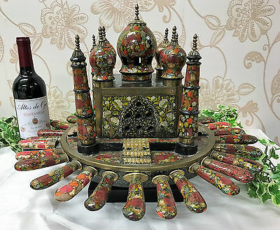 Very Unusual Taj Mahal Rotating Centrepiece with Cutlery