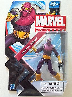 "Marvel Universe Series 5 #22 ""baron Zemo"" 3.75 Inch Action Figure New Moc 2013"