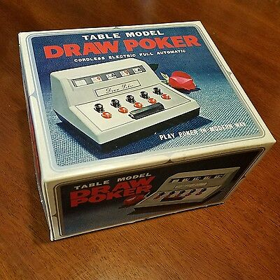 Vintage In Box Table Model Draw Poker Game 1971 WACO JAPAN Cordless Electric