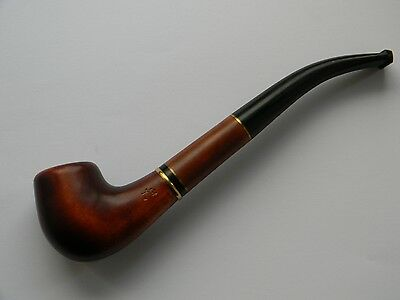 FINNISH Authors Hand Carved Tobacco Smoking Pipe, Wild Pear Wood - Briar Analog