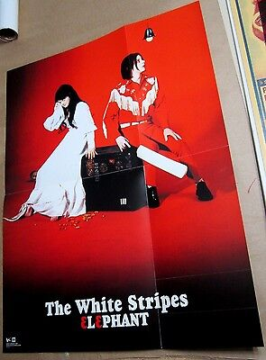 WHITE STRIPES 2003 Elephant Two-Sided Perforated Card Promo Flat Poster