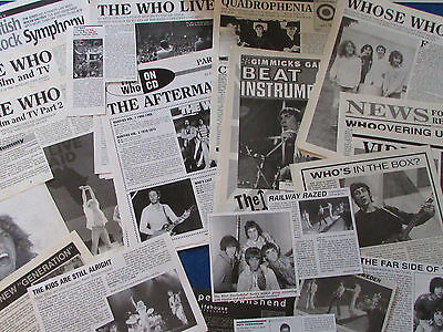 Joblot of Articles & Cuttings - The Who