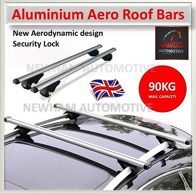 Aluminium Aero Car Roof Rack Bars For Dacia Duster Estate 13-On