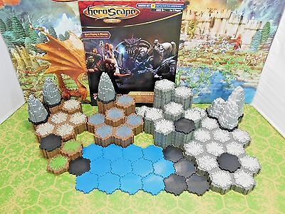 Heroscape Terrain 167 Hexes of Dungeon, Rock, Water, Shadow, Rock Outcrops +more