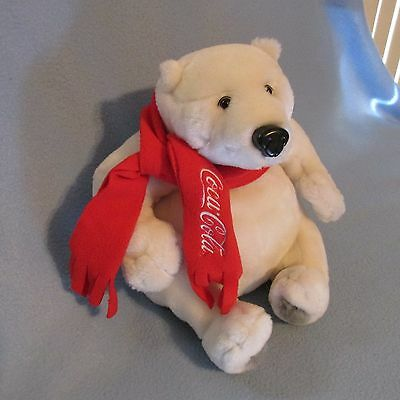 "Coca Cola 10 ""  Polar Bear w/Red Scarf HTF McDonald's Convention 2008 IMAGINE"