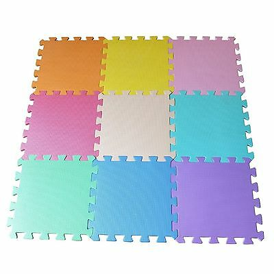 9 Pcs Interlocking Kids Baby Foam Activity Floor Play Indoor Outdoor Mat Puzzle