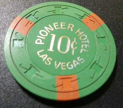 Pioneer Hotel 10 cent Casino Chip- Scarce Item- Excellent Condition