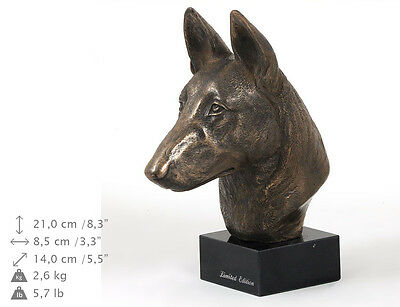 Malinois, dog bust marble statue, ArtDog Limited Edition, USA