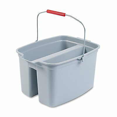 "Rubbermaid Commercial 262800 19 Quart Double Utility Pail, Plastic, 18"" x 14 x"