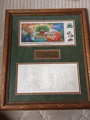 1998 Disney World Animal Kingdom Limited Edition Opening Framed Presentation!