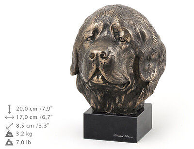 Newfoundland, dog bust marble statue, ArtDog Limited Edition, USA