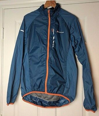 Montane Pertex Microlight Blue Cycling Velo Hiking Shell Jacket Men's M