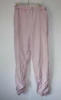 Vintage 80s Adolfo Sport Windbreaker Pink track suit Pants Size medium