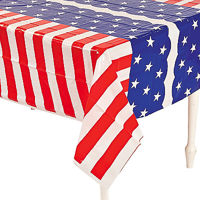 Stars and Stripes Table Cover 4th Of July Party Decoration Independence Day Flag