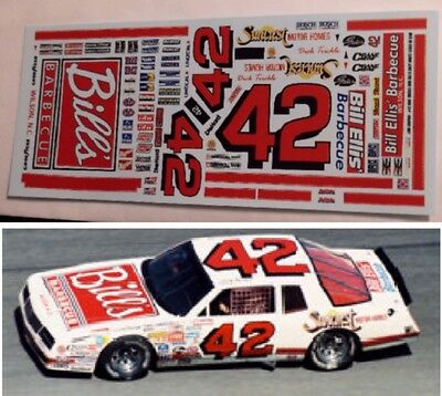 "Dick Trickle #42 1986 ""BILL'S BBQ"" MCSS 1/24th scale decals LoboGraphix"