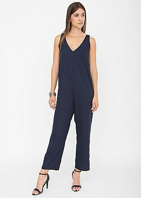 Relaxed Romper Jumpsuit Blue
