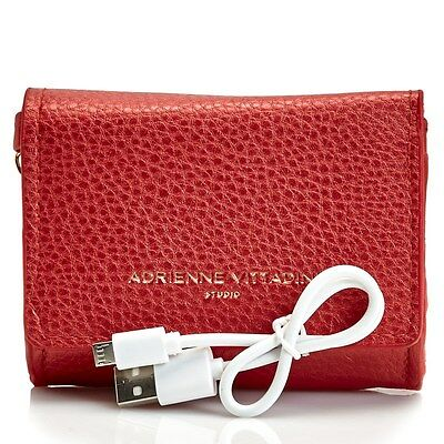 Adrienne Vittadini Women's Ladies Charging Card Holder Pebble Wallet Power Bank