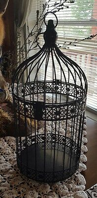 Black Metal ♡ Bird Cage Gift Table Center Piece For Wedding $$$ ♡ Vintage Style