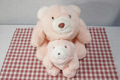 """Two GUND 1980 Pink 13""""  and 8"""" Plush SNUFFLES Bear A8"""