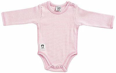 Pink 23 PIPPI BODY LS W.BUTTONS O.SHOULDER-BODY BEBÉ-NIÑAS (CANDY FLOSS) Nuovo