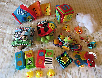 LOT OF BABY TOYS inc LAMAZE - very good condition