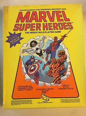 MARVEL SUPER HEROES ROLE PLAYING GAME BY TSR 6850 RPG  Time Trap Included