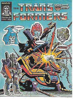 Transformers #87 (Marvel UK 1986, full colour throughout, 28 pages) high grade