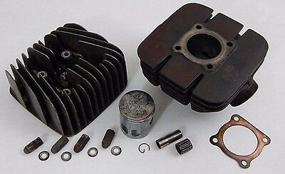 1974 Genuine YAMAHA RD 60 CYLINDER & HEAD w Matched PISTON Hardware Parts RD60