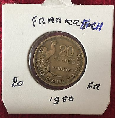 Frankreich Francaise 20 Francs 1950 Georges Guiraud