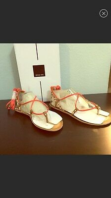 14be3c4adb9 DOLCE VITA KARMA Lace Up Flat Sandals - Women s Size 8.5 Yellow ...