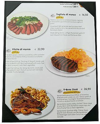 "Menu CoverPacked of 10 Pcs 8"" 1/2 X 11"" Inches,Single View,Sold By Case"