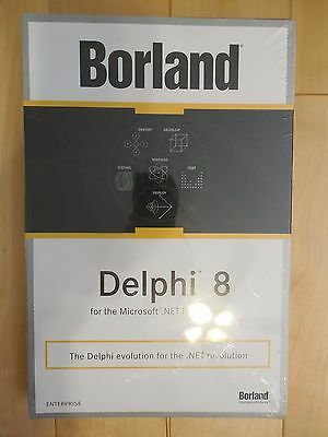 New and Sealed Borland Delphi Enterprise 8 8.0 Upgrade Box with version 7 CD-ROM