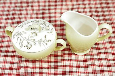 Grindley ROMANCE Covered Sugar and Creamer Retro 50's Mint.