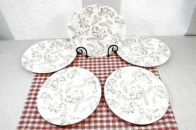 5 Grindley ROMANCE  Oval shaped Salad / Luncheon Plates, Retro 50's. Exc.