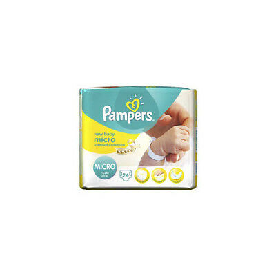 Pampers Micro Premature Baby NICU Nappies 1-2.5kg 2-5lb 2 PACK