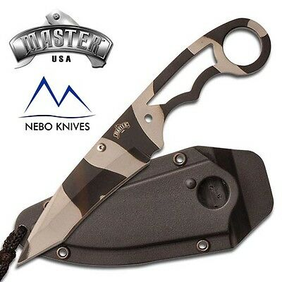 "Master Usa Neck Knife With Sheath 6.75"" Overall Urban Camo Design Mu-1119Uc"