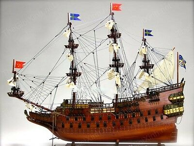WASA Swedish Warship 87cm Handcrafted Wooden Tall Ship Model